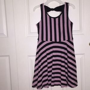 Striped JUSTICE dress
